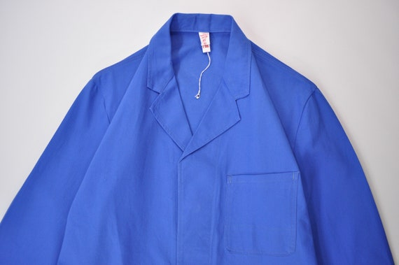Vintage European Work Coat / Blue Shop Coat / Dust