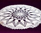 "Crochet Coppers wool-white round, crochet cover, 50 cm Diameter, 20 ""diameter,"