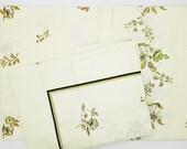 Vintage bedding set, light green, floral motifs, new