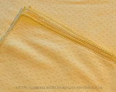 """Coffee blanket yellow, 138 x 162 cm, 55.5""""x64"""", square cotton tablecloth,"""