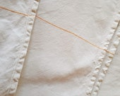 Vintage linen, tablecloth or duvet, l 230 cm w 130, country house tablecloth,