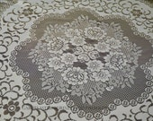 """Round polyester tablecloth, diameter 190 cm/75, """"shabby decoration dining table"""