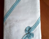Vintage white quality bed wash, brocade mast, new