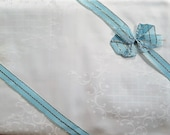 Vintage, Set 2x2 pieces. bed linen, 140 x 200 cm, brocade damask, shabby, steering quality, new bed linen,