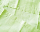 "Light-green Pillowcase, 80 x80 cm, 31.5ŵx31.5 ""Vintage Mako damask, Austax Quality wedding, new Linens,"