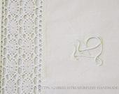 "Pillowcase 70 x 80 cm, 27.5ŵx31.5, ""hand-crocheted cotton tip,"