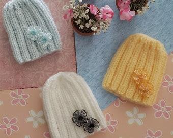 Doll Hats, Knitted Doll Hats, 18 inch Doll Hats, Preemie Hats,  Hats, Handmade Hats, Baby Hats