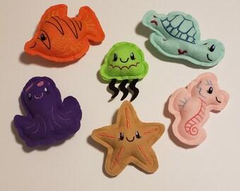 Beach Buddies, Stuffed Toys, Stuffed Animals, Plushies, Buddies, Aquatic Friends, Felt Toys, Soft Toys