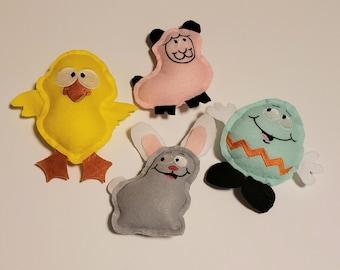 Easter Basket Buddies, Stuffed Toys, Stuffed Animals, Plushies, Buddies, Springtime, Felt Toys, Soft Toys