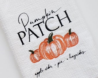 Halloween Towels, Kitchen Towels, Autumn Towels, Fall Towels, Holiday Towels, Embroidered Towels, Home Decor