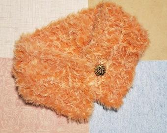 Crocheted Collar, Neck Scarf, Faux Fur Cuff, Faux Fur, Accessory, Scarf, Fluffy Soft Collar