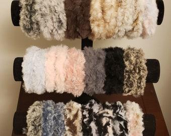 Faux Fur Hair Ties, All Occasion, Crocheted, Scrunchie, Hair Scrunchie, Hair Ties, Furry, Elastic, Blouse Cuffs, Hair Accessories, Accessory