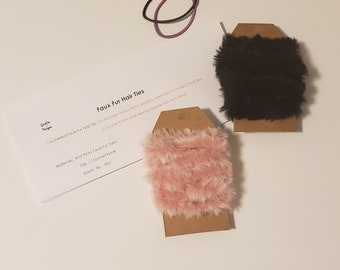 Kit, DIY, Crochet Hair Ties, How to, Pre-Cut Yarn, Scrunchie, Scarf, 2 piece Set with Pattern