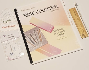 """Knitting Booklet, Abbreviation List, Knitting Sheets, Knitting Needle Info, """"So GraCee"""" Series, Row Counter, Knitting Info, Booklet"""