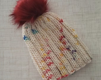Child Hats, Knitted Hats, Child Size, Hats for Children,  Hats, Handmade Hats, Ribbed Hats