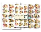 Cups Full of Spring Fussy cut embellishment for your journals. Includes 15 embellishment comes in cream edge, clear edge and PNG.