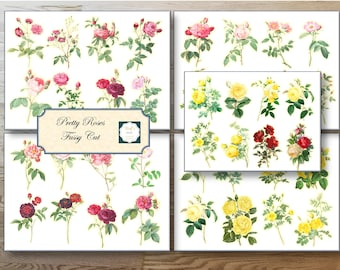 Pretty Roses Fussy Cut for your ephemera or journal page.