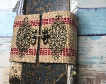 Botanical Theme Handmade Junk Journal