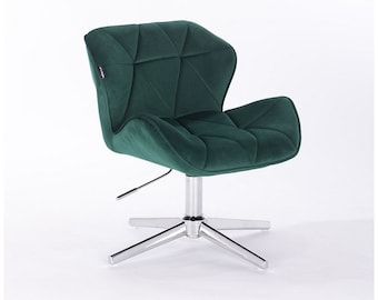 Beau Designer Desk Chair From Velour / Office Chair 8 Colours CROSS