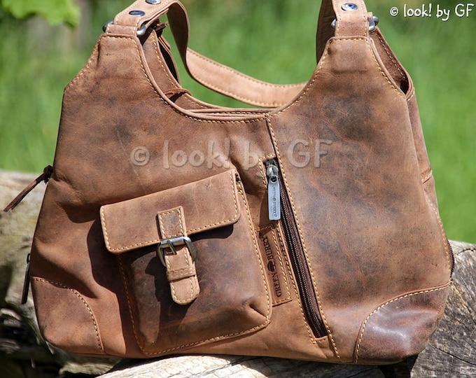 Featured listing image: Ladies Bag Leather Handbag Shoulder Bag Shopper Vintage Leather Bag saddle brown used look