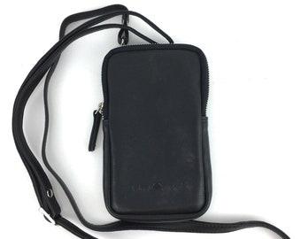 Leather Smartphone Bag Shoulder Bag black