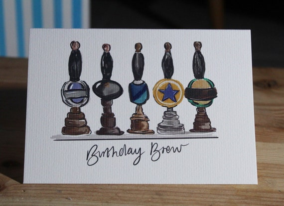 Beer birthday card// birthday cards for him // draft beer// birthday card