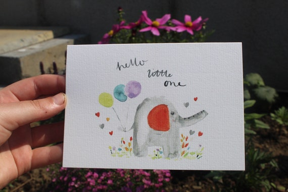 Hello little one// baby card // new baby card