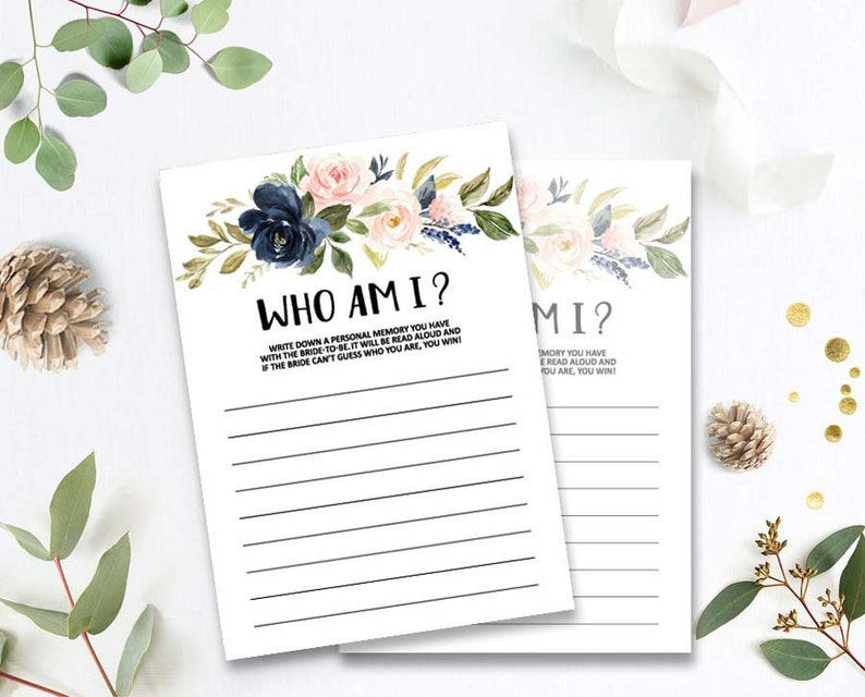 Memory with the Bride Bridal Shower Games Floral Who Am I Bridal Shower Games Printable Bachelorette Party Game oq189 Bridal Shower Game