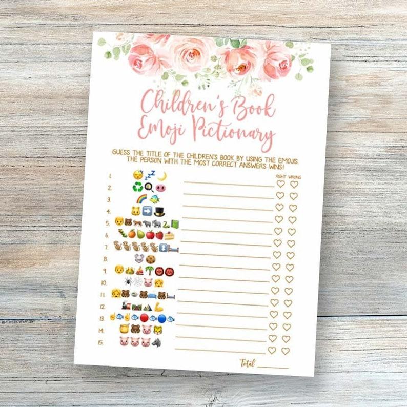 Children's Book Emoji Pictionary Baby Emoji Pictionary   Etsy