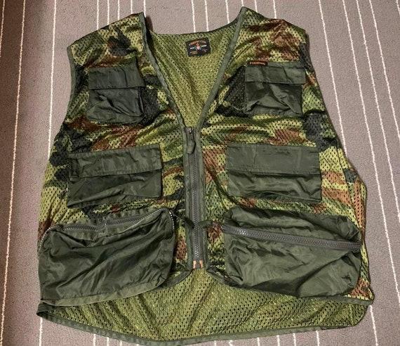 Vintage Camo Fishing Summer Vest Multi Pocket Spec
