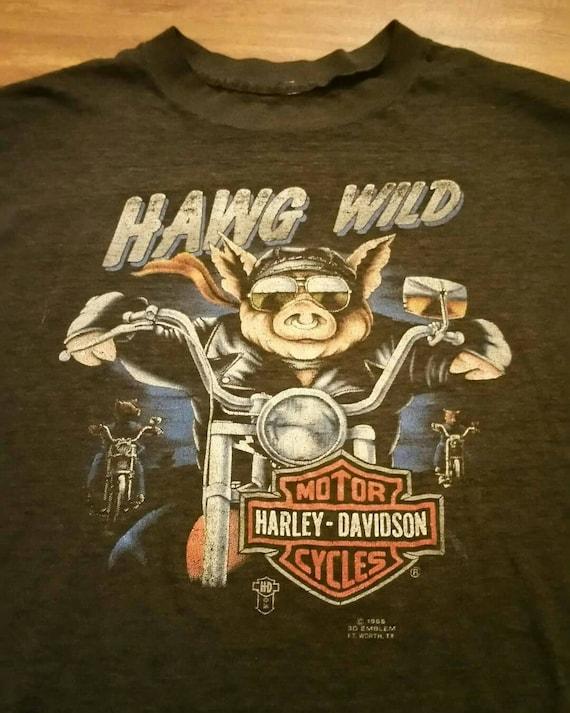 1986 3d emblem. Hawg wild. Harley davidson