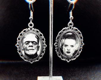 Frankenstein & his Bride Earrings