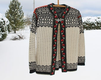 Wool Cardigan Scandinavian Etsy