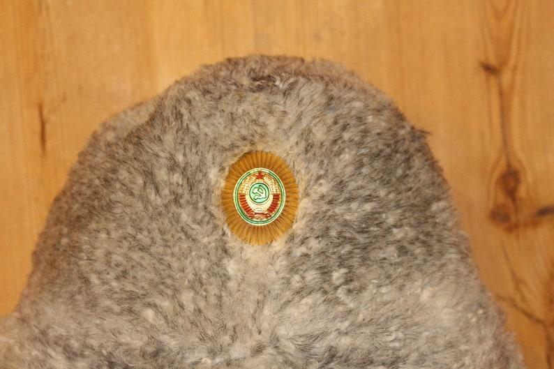 Sheepskin hat Warm winter hat ear flaps Real fur hat Soviet army winter hat Unisex winter hat Soviet vintage hat Trapper hat Soviet ushanka