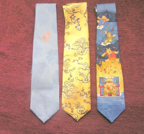 Vintage Set of 3 ties Fiorentino Collection ties neck ties,