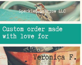 CUSTOM ORDER for VERONICA F. - sugar skull leather cuff bracelet - recycled belt cuff - rock star biker chick style - Day of the Dead