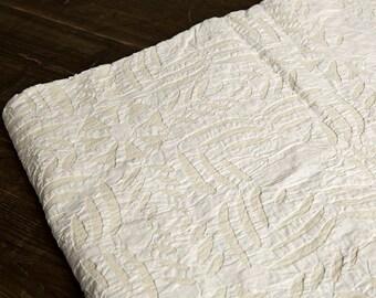 White Handmade Vintage Cotton Applique Design Organza Bedding Throw Bedspread Queen size Christmas D\u00e9cor