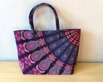 de5a77ccd98 WholeSale Lot Indian Ethnic Bohemian Hippie New hand Printed Mandala Tote  Bag Womens Hobo Hand Bag 5 pcs set