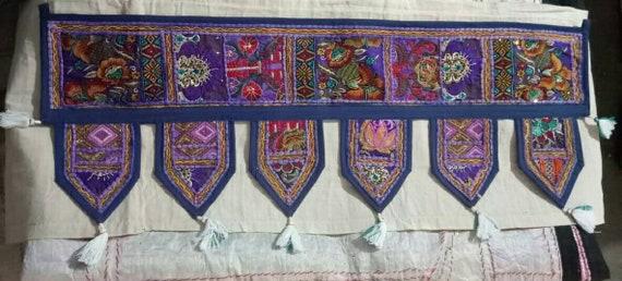 Indian Traditional Vintage work Hand made Patch Work  Beautiful wel come Door Hanging critical  Decorative  Home decor  Door hanger 1 pec