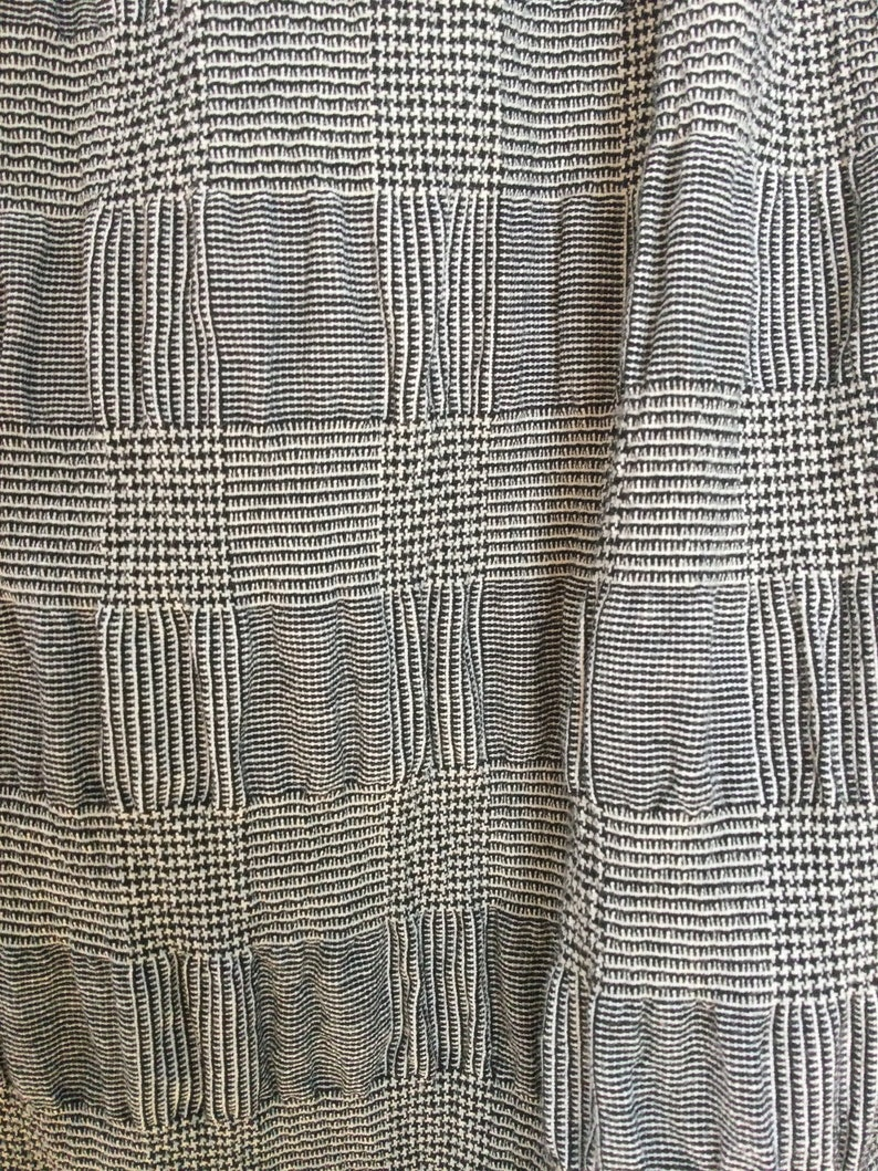 ready to Maxi Skirt lagenlook style elastic waist very flattering Medium weight Black and White houndstooth comfortable