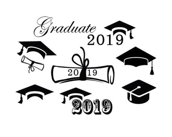 Graduation Svggraduation Cap Svg2019 Graduation Etsy