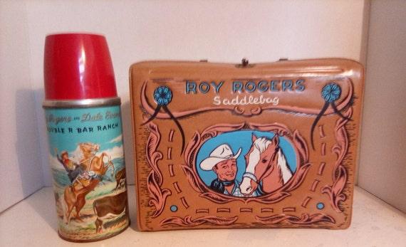 roy rogers saddlebag lunch box 1960