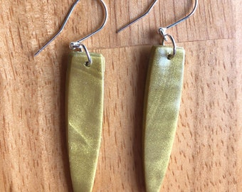 """Paddles in """"Deep Gold"""" — lightweight polymer clay"""