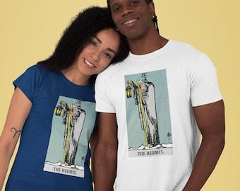 The Hermit Tarot Card Unisex T-Shirt, tarot t shirt, Tshirt, Tarot deck, Witchcraft, print shirt, print tee, graphic  tees, tarot shirt