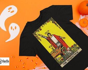 The Magician Tarot Card Unisex T-Shirt, tarot t shirt, Tshirt, Tarot deck, Witchcraft, print shirt, print tee, graphic  tees, tarot shirt