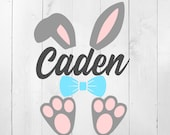 Easter SVG, Easter Monogram SVG, Bunny Ears Svg, Bunny Monogram SVG, Boys easter Monogram, rabbit ears svg, easter bunny svg, bunny feet svg