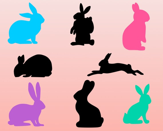 Rabbit svg Bunny svg Easter bunnies bundle Bunny Silhouette Bunny clipart