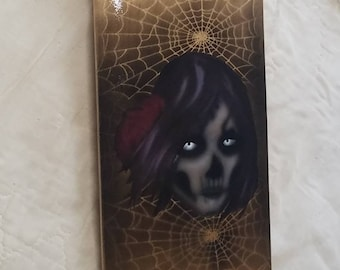 Witch and spiders skateboard