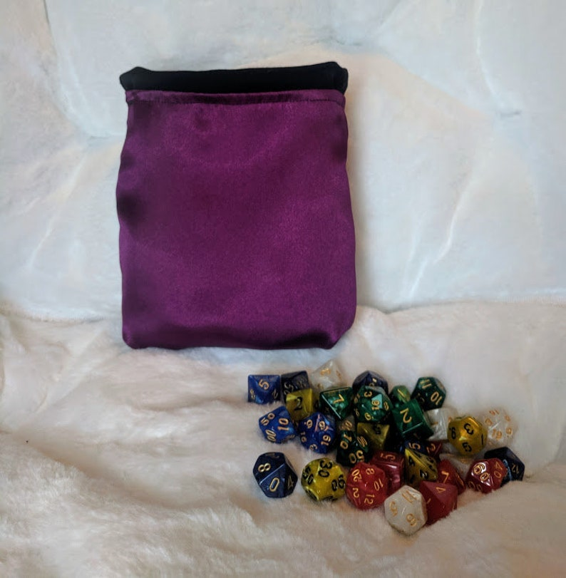 Magic the Gathering bag  dice bag  MtG  card bag  dice pouch  tabletop gaming  handmade and customizable  wizards of the coast