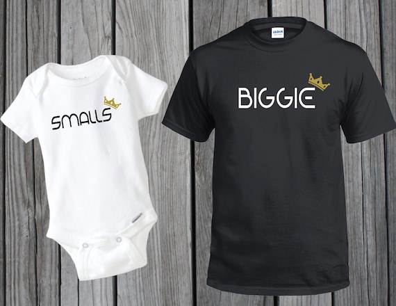 e3f3b5e47 Customized Dad and Baby BIGGIE SMALLS Matching T-Shirt and | Etsy